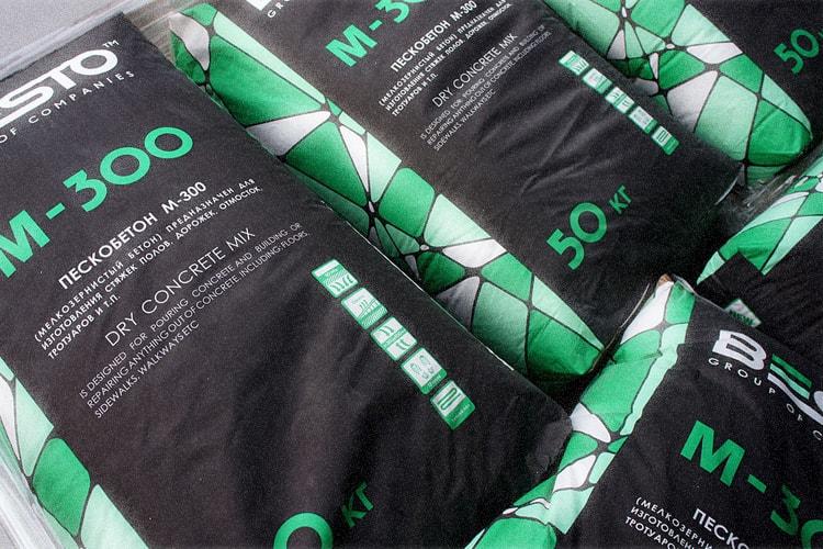 Использование сухой смеси м300