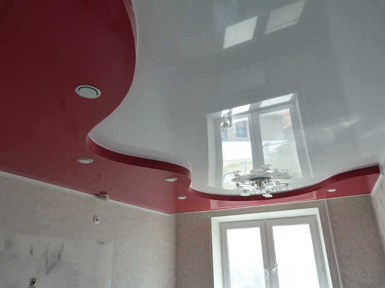 Натяжной потолок многоуровневый