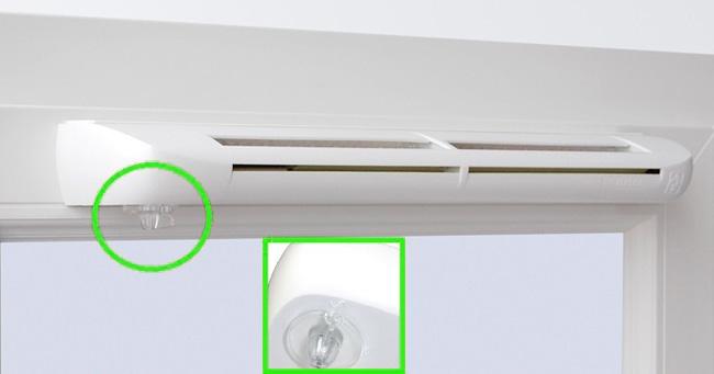 Вентиляционный клапан для металлопластикового окна