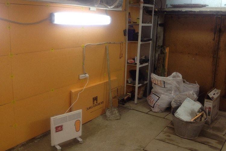 Отопление гаража конвектором