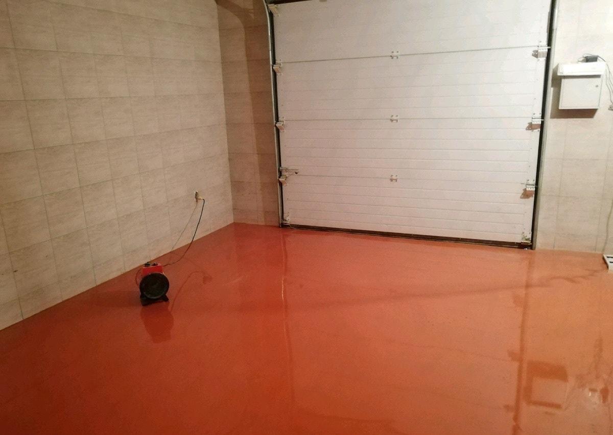 Полимерный пол в гараже