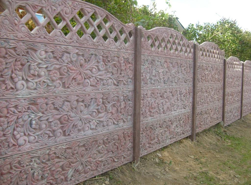 Наборный бетонный забор