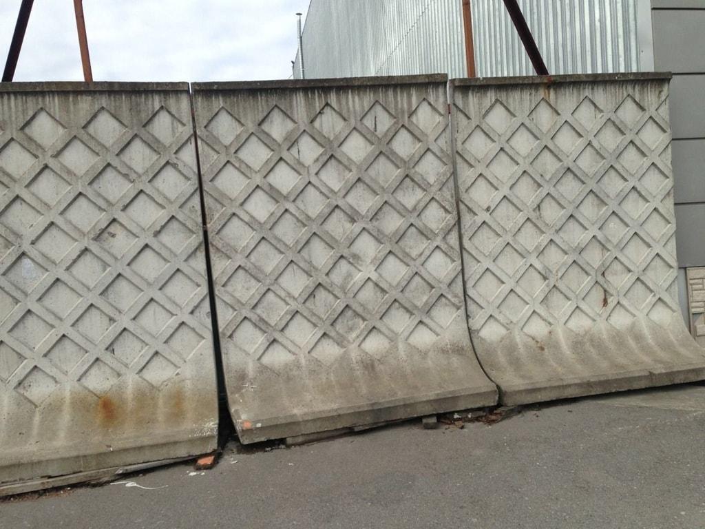 Самостоящий бетонный забор