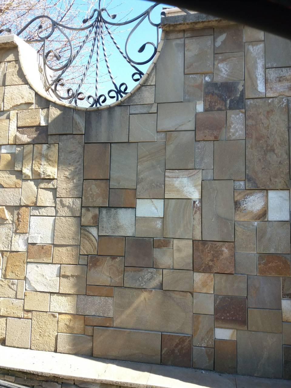 Забор из шлифованного камня