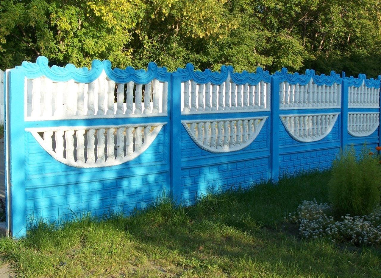 Бетонный забор для дачи