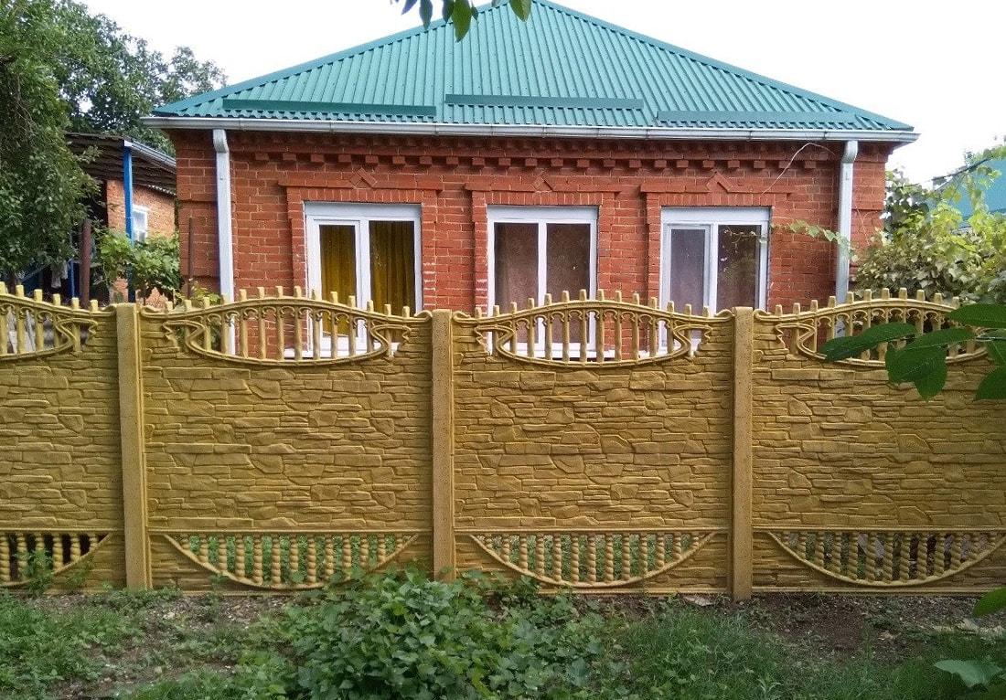 Забор для дачи из бетона