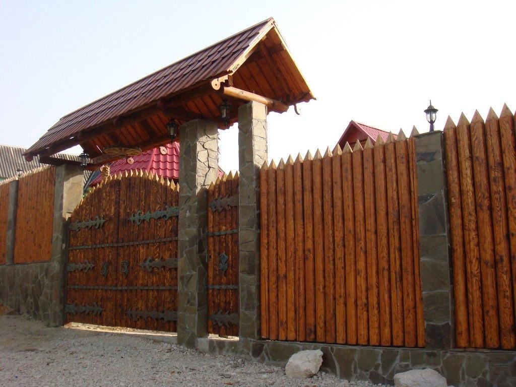 Забор для дачи из частокола