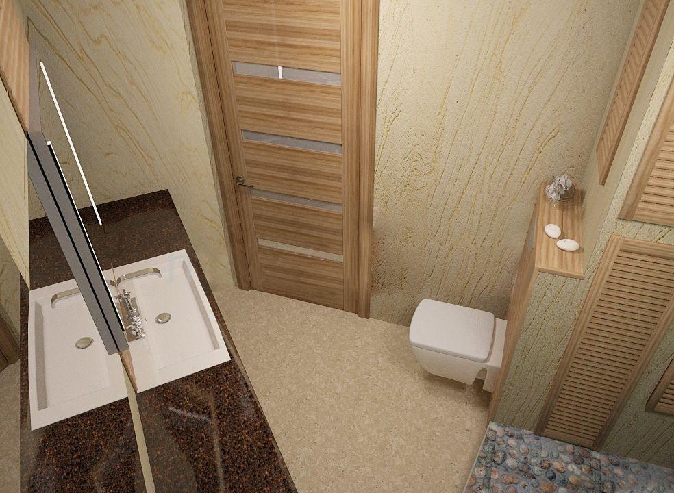 Использование гибкого камня в ванной