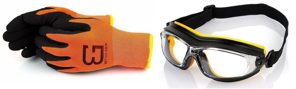 Очки и перчатки для работы с термофеном