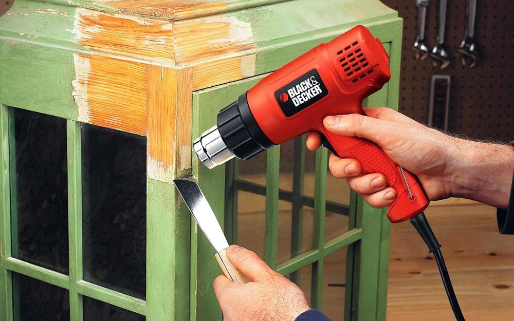 Снятие краски термофеном