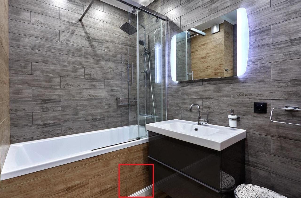 Технический люк во встроенной ванне