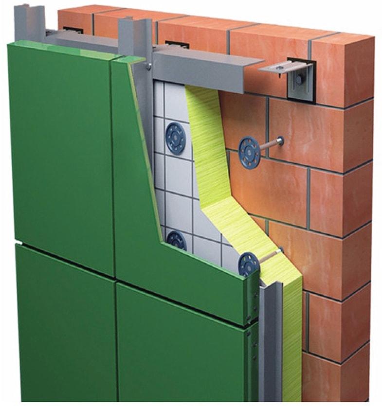 Отделка фасада металлическими кассетами