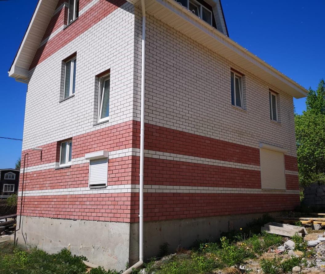 Отделка фасада силикатным кирпичом