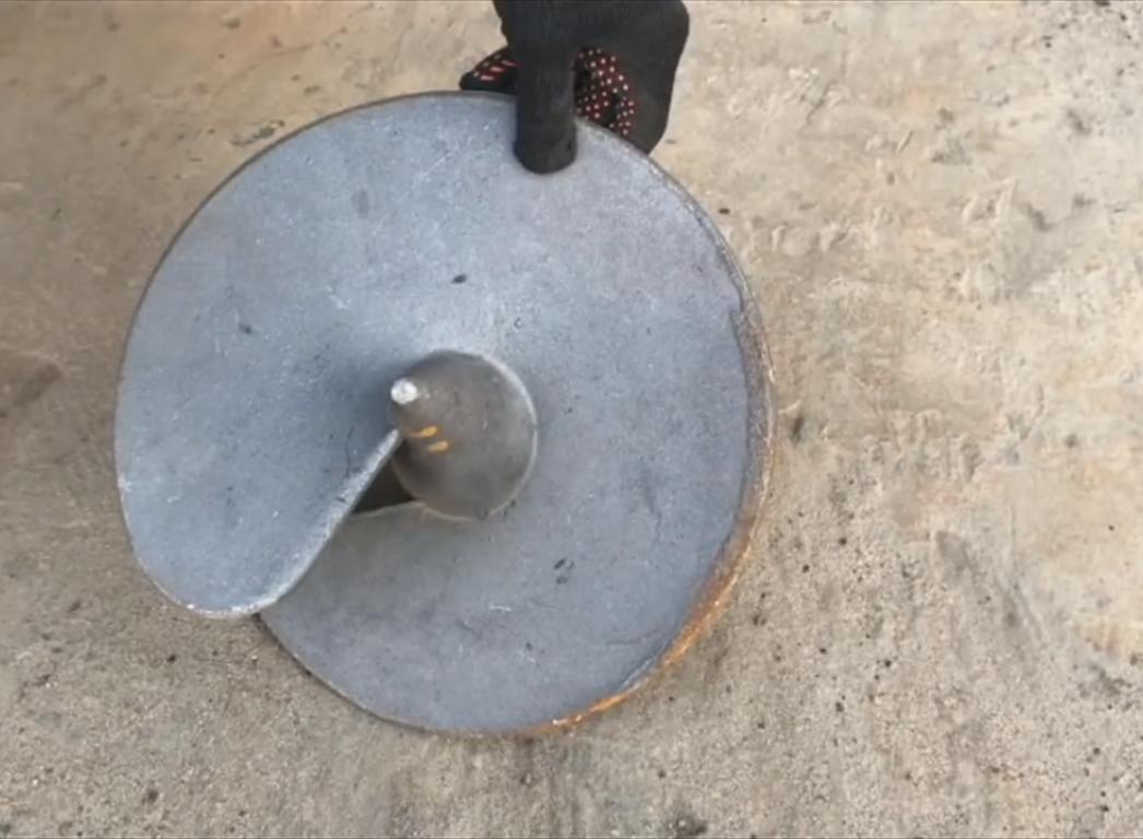 Свайная опора с литым наконечником