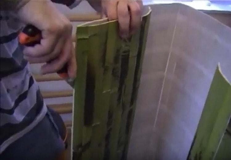 Как резать бамбуковые обои
