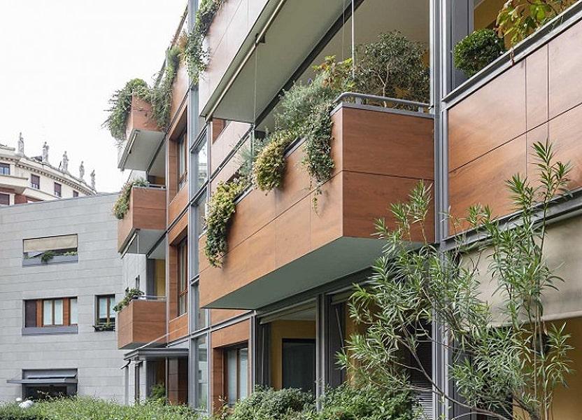 ОТделка балкона снаружи керамогранитом