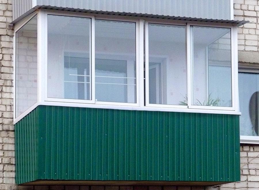 Отделка балкона профлистом снаружи