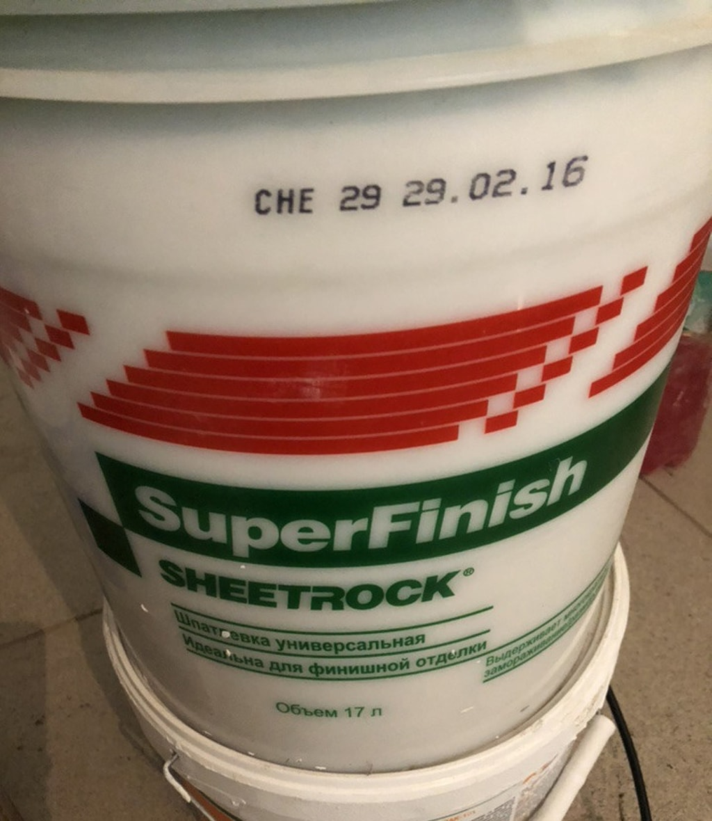 Шпаклевка Sheetrock SuperFinish