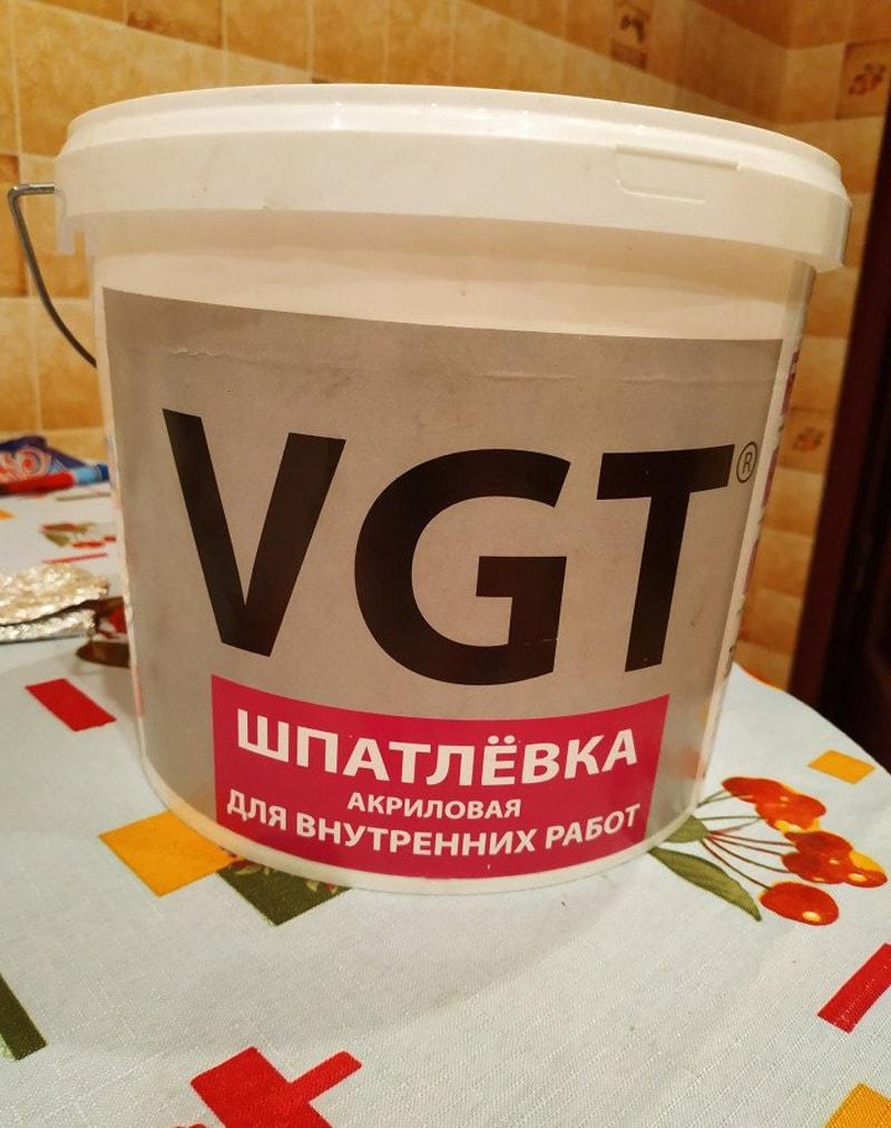 Шпаклевка VGT акриловая