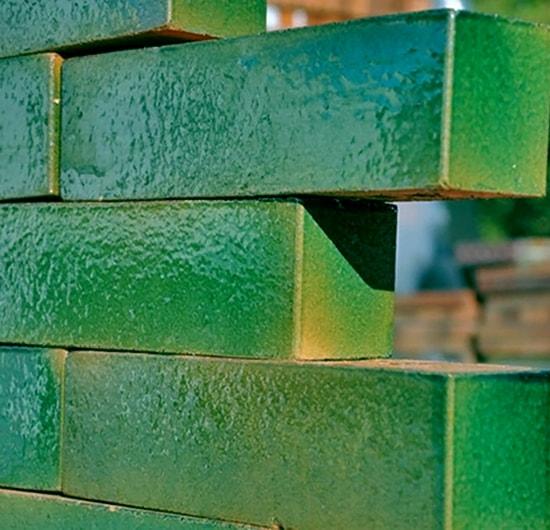 глазурованный кирпич в строительстве