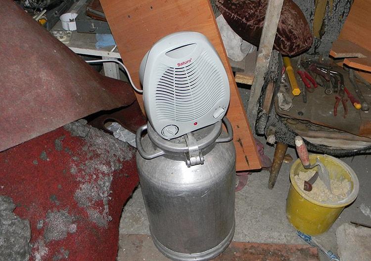 Отопление гаража тепловентилятором