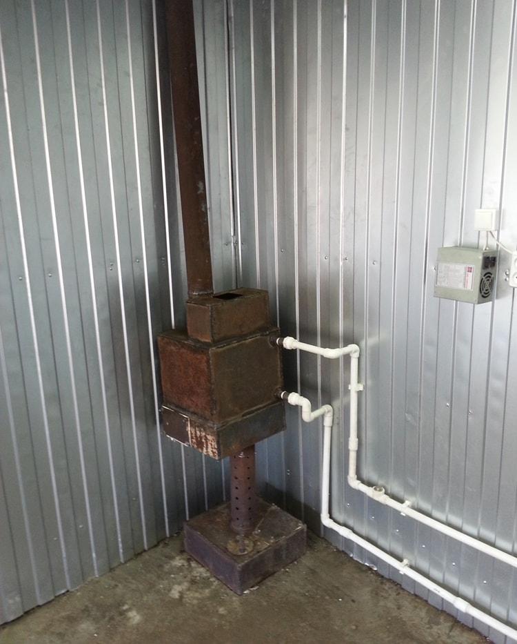 Отопление гаража топливным маслом