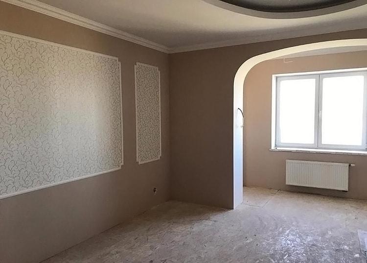 Отделка стен в гостиной гипсокартоном