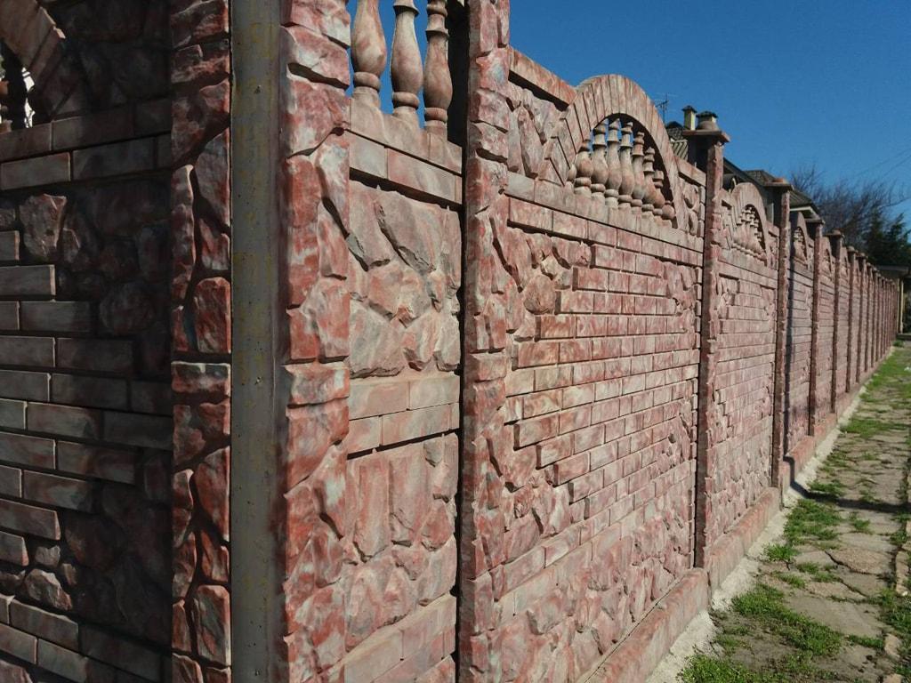 Бетонный забор для дома