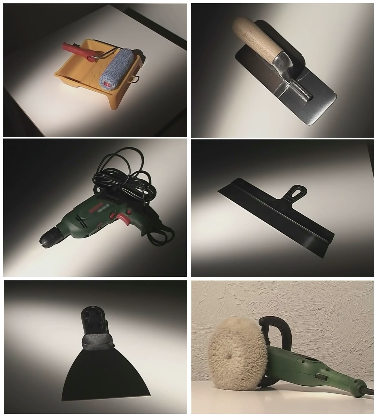 Инструменты для нанесения венецианской штукатурки