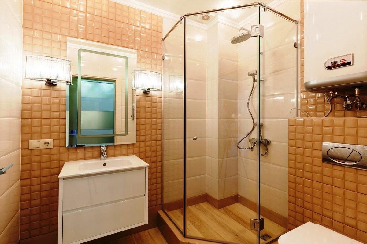 Зеркало в ванную со светильниками