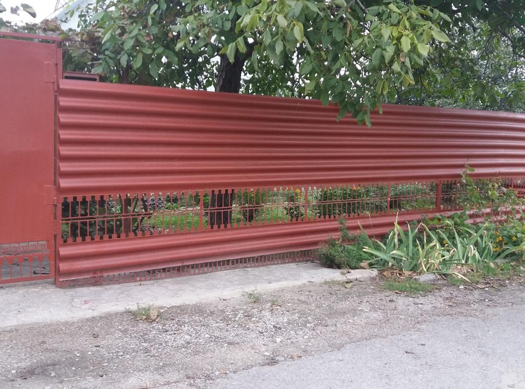 Забор для дачи из шифера