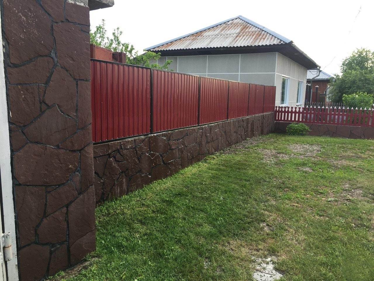 Забор для дачи из камня