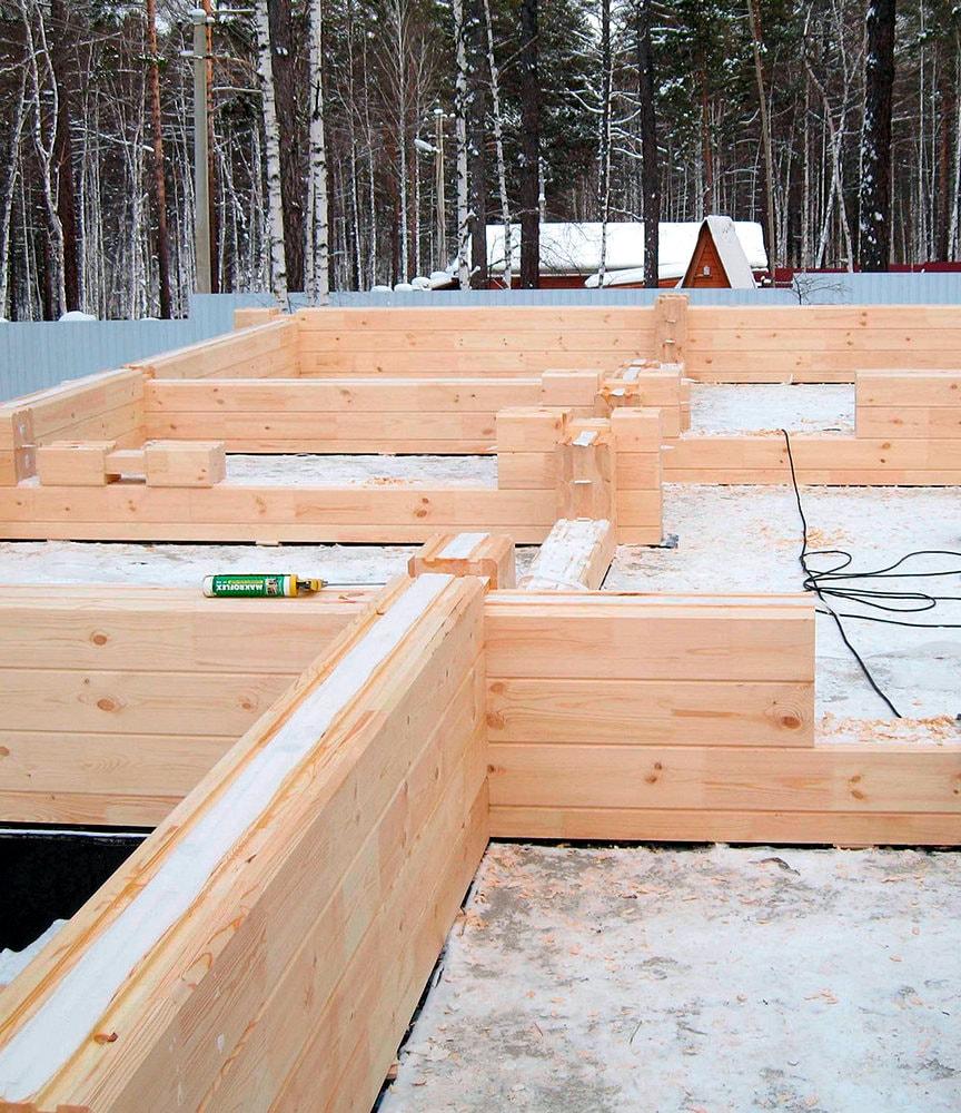 Строительство дома из клеевого бруса