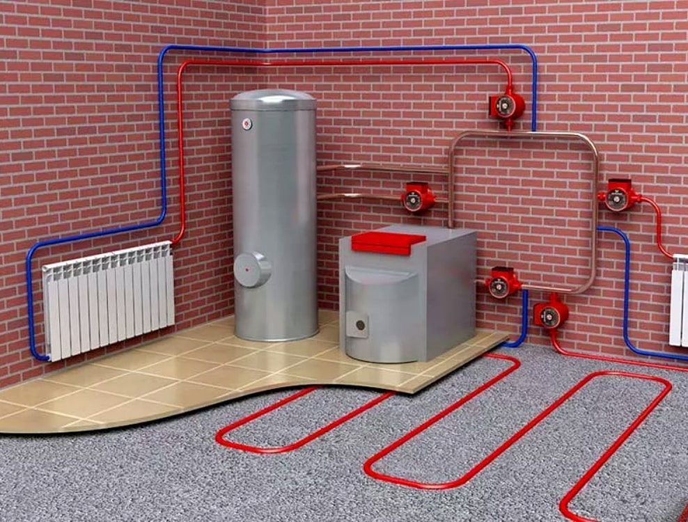 Общая структура отопления