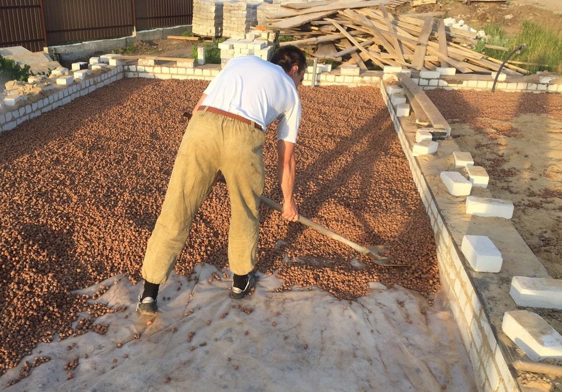 Использование керамзита для фундамента дома