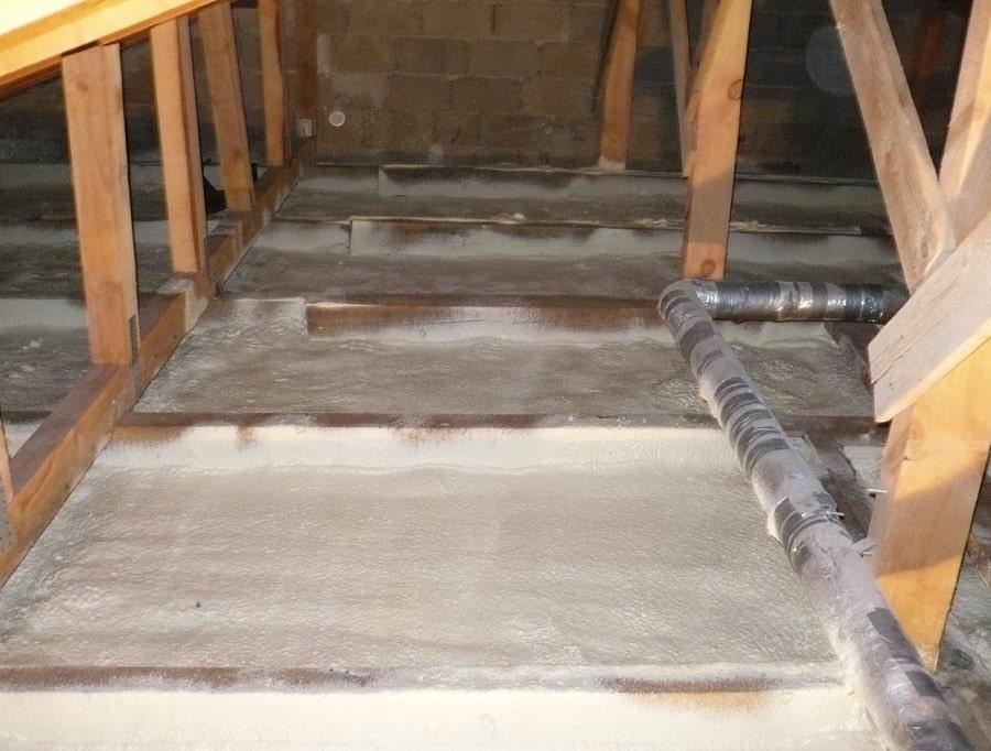 Утепление крыши пенополиуретаном методом напыления