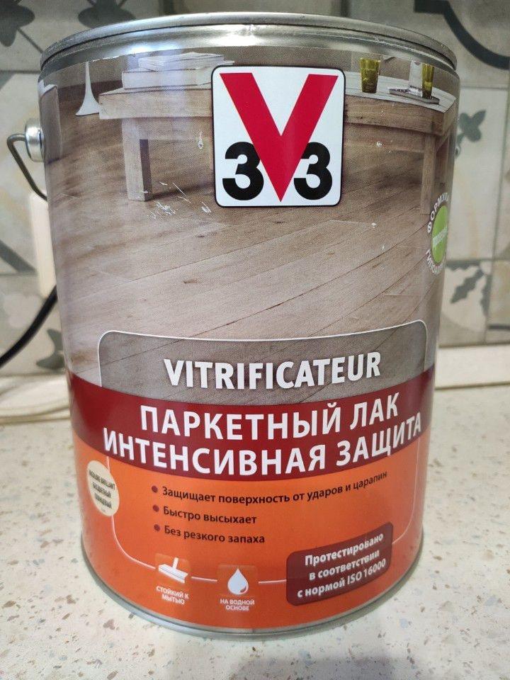 Лак на водной основе фирмы 3V3