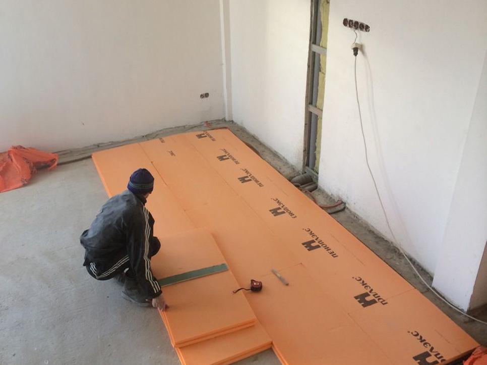 Утепление бетонного пола эппс