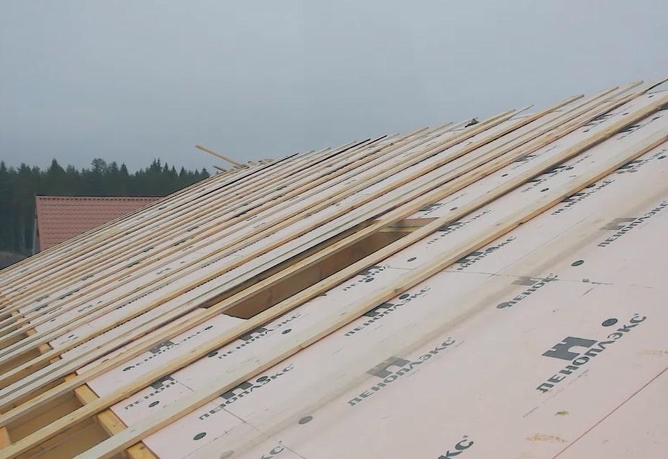 Утепление крыши ЭППС