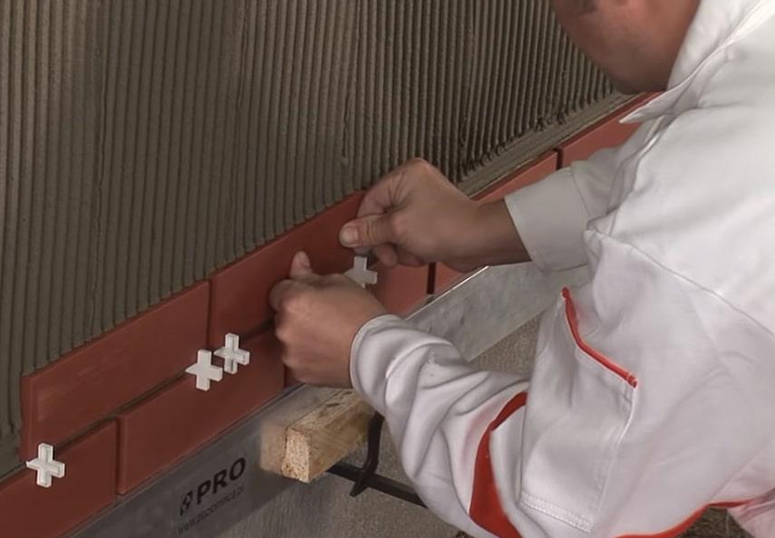Монтаж клинкерной плитки
