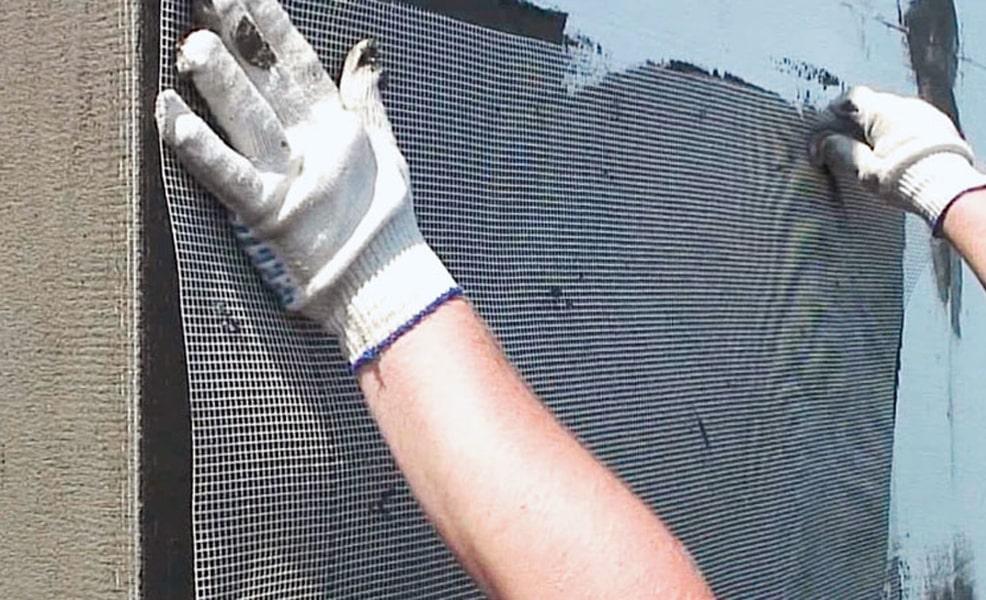 Укладка армирующей сетки