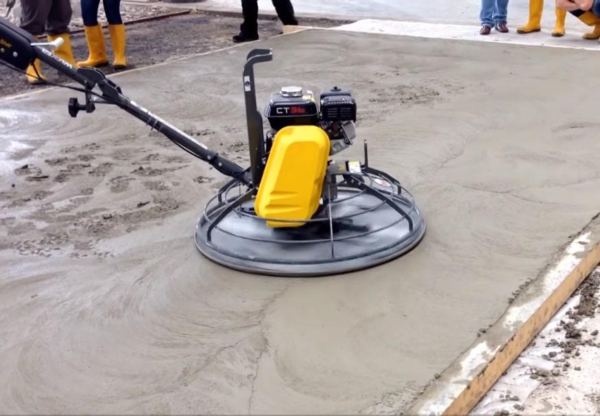 Затирка бетонного пола вертолетом